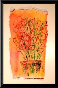 Orange Flowers print by A.S. Pirozzoli