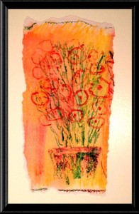 Orange Flowers print by A.S. Pirozzoli