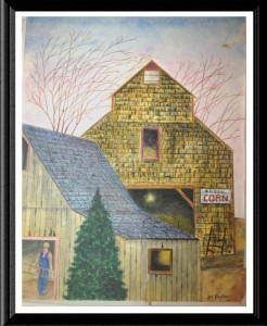 Corn Barn Print by AS Pirozzoli